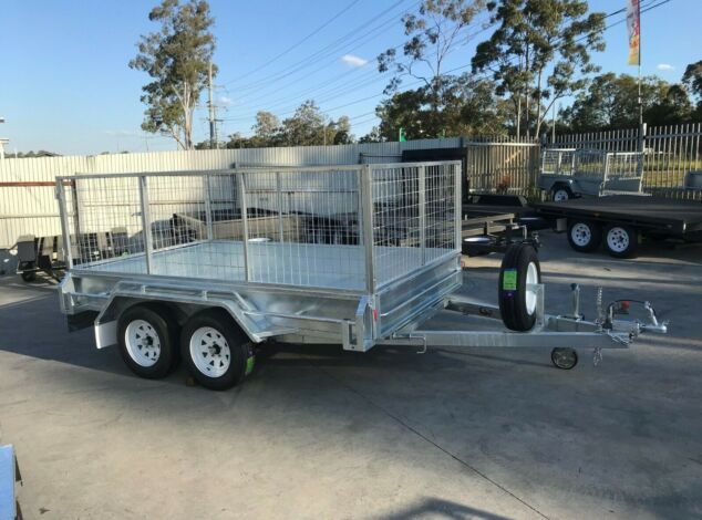10x5 Tandem Galvanised Cage Trailer 3 Ft Cage Trailer Sale Brisbane