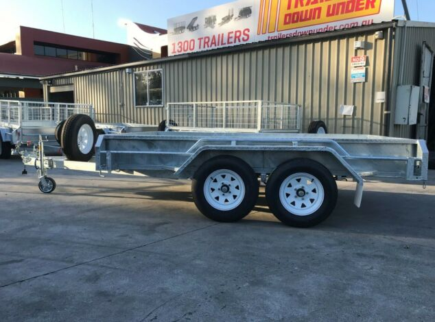 10x5 Tandem Galvanised Full Checker Plate Box Trailer for Sale Brisbane