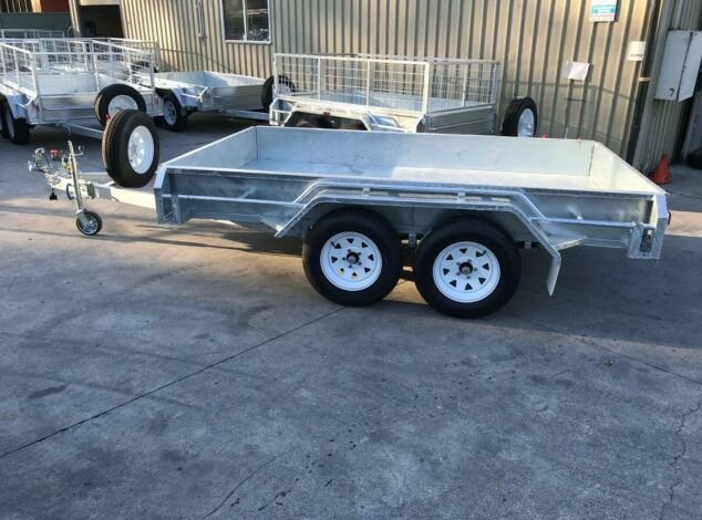 10x5 Tandem Galvanised Full Checker Plate Box Trailer for Sale Brisbane1