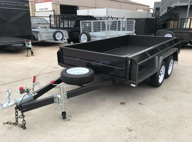 10x5 Budget Specification Tandem Box Trailer for Sale in Brisbane High Sides