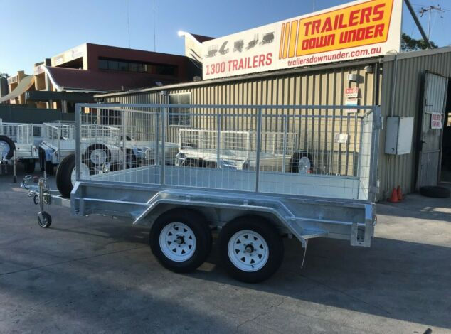 10x6 Tandem Galvanised Cage Trailer with 3 Ft Cage For Sale Full Checker Plate - Cage Trailer for Sale Brisbane