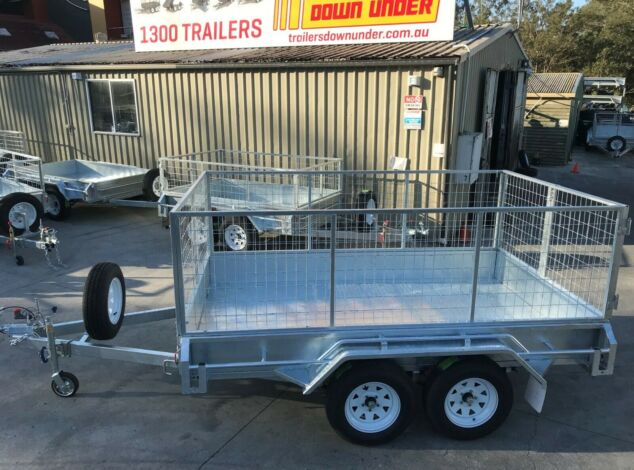 10x6 Tandem Galvanised Cage Trailer with 3 Ft Cage For Sale Full Checker Plate - Cage Trailer for Sale Brisbane1