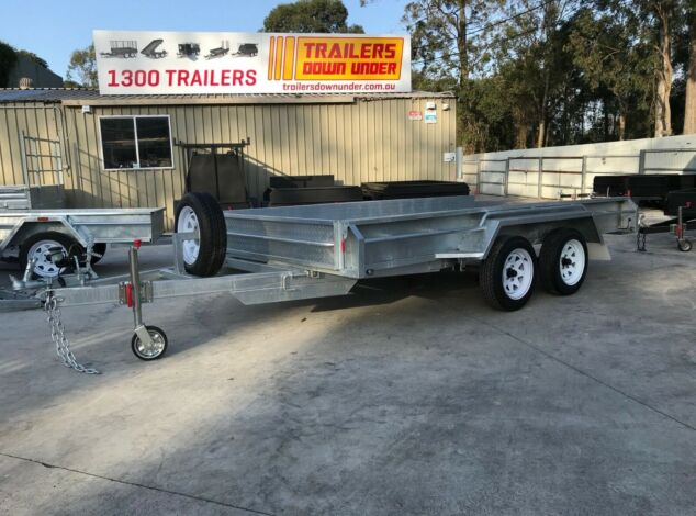 12x6 Tandem Galvanised Box Trailer For Sale Full Checker Plate - Trailer for Sale Brisbane