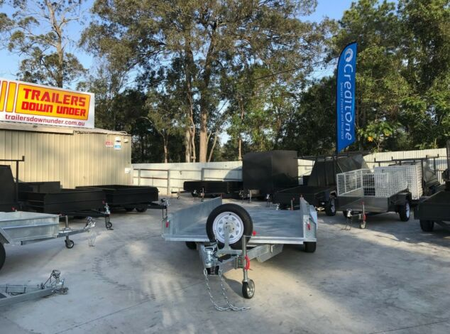 12x6 Tandem Galvanised Box Trailer for Sale Full Checker Plate - Trailer for Sale Brisbane2