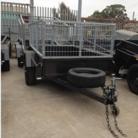 7x4 Single Axle Box Trailer with 2 Ft Galvanised Cage for Sale in Brisbane