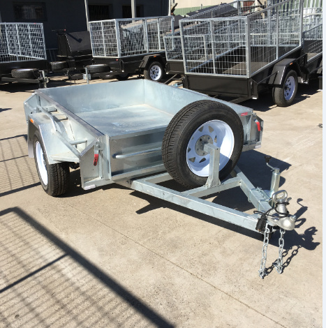 6x4 Heavy Duty Galvanised Single Axle Trailer
