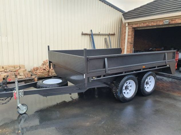 Heavy Duty Flat Top Trailer For Sale with Drop Sides