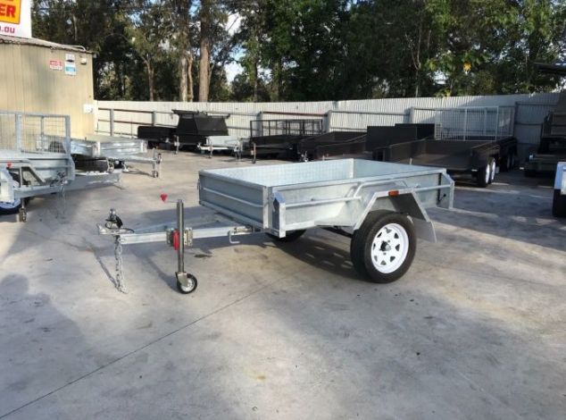 6x4 Single Axle Galvanised Box Trailer for Sale in Brisbane