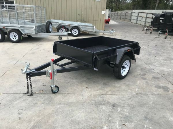 6x4 Single Axle Commercial Duty Box Trailer For Sale in Brisbane