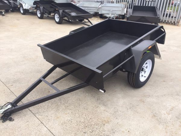 6x4 Single Axle Domestic Heavyl Duty Australian Made Box Trailer for Sale
