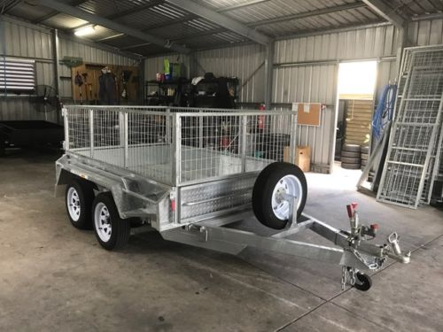 8x5 Heavy Duty Galvanised Trailer with 2 Ft Cage For Sale in Brisbane