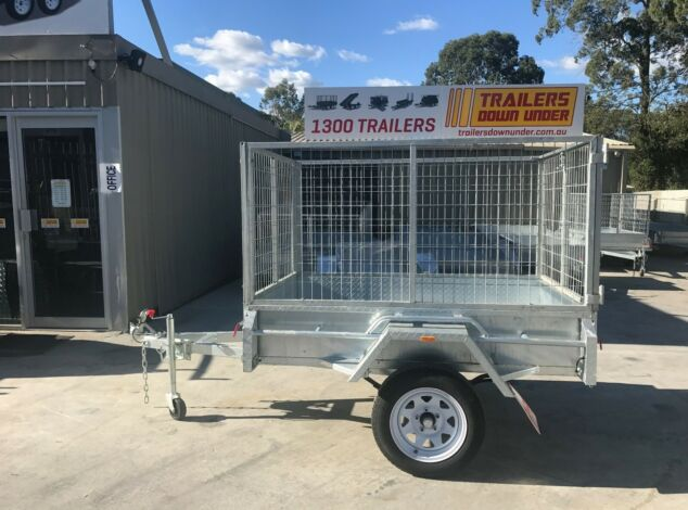 6x4 Galvanised Box Trailer with 3 Ft Cage for Sale in Brisbane