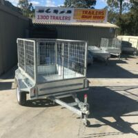 6x4 Single Axle Galvanised Trailer with 2 Ft Cage for Sale in Brisbane