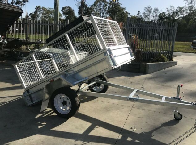 7x4 Galvanised Cage Trailer for Sale with 2 Ft Cage in Brisbane