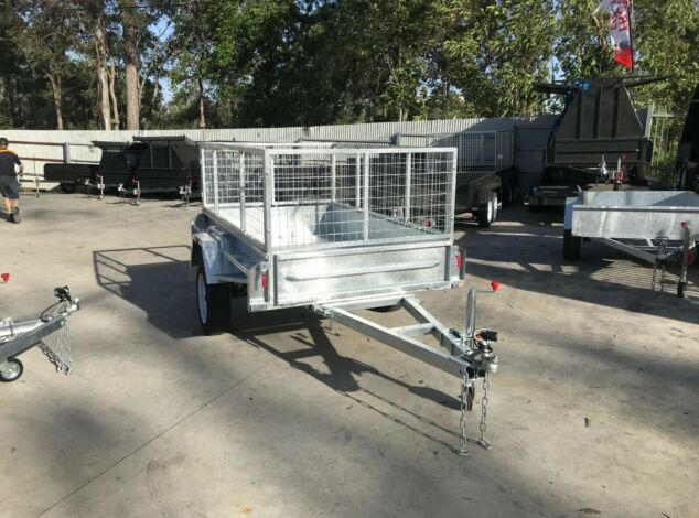 7x4 Galvanised Cage Trailer for Sale with 2 Ft Cage in Brisbane1