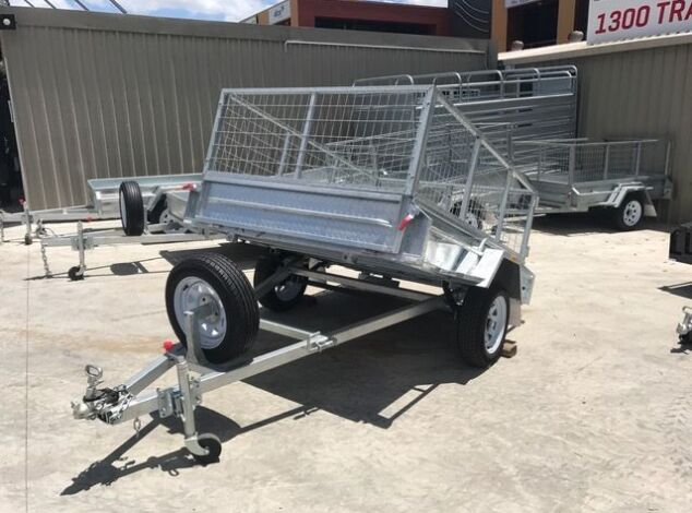 7x5 Single Axle Galvanised Cage Trailer for Sale in Brisbane