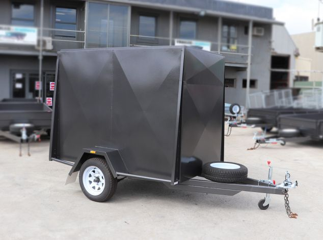 7x5 Fully Enclosed Van Cargo Trailer for Sale 5ft height Brisbane