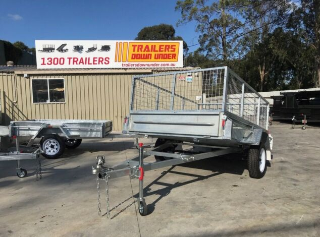 8x5 Galvanised Cage Trialer 3 Ft Cage Full Checker Plate For Sale Brisbane1