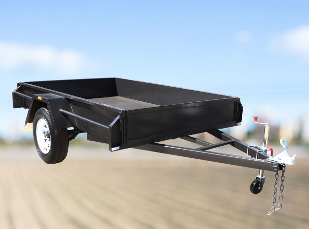 8x5 Commercial Heavy Duty Single Axle Box trailer for sale