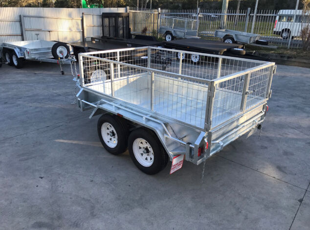 8x5 Tandem Galvanised Cage Trailer for Sale in Brisbane